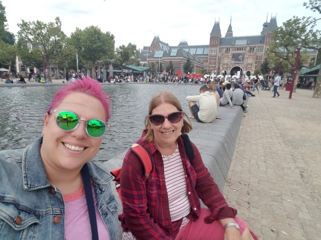 In front of the Rijksmuseum